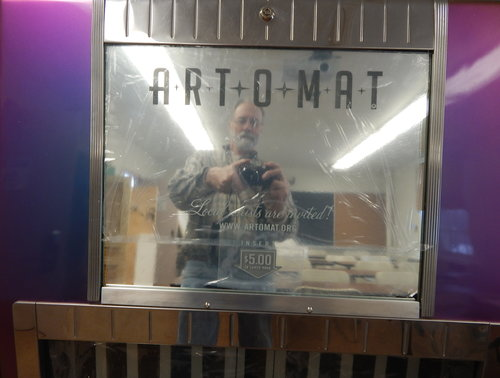Fresh out of the box, the college now has an Art-o-mat, complements of the  LoKo Festival of the Arts . Visit Clark Whittington's  Art-o-mat  site for his complete story.