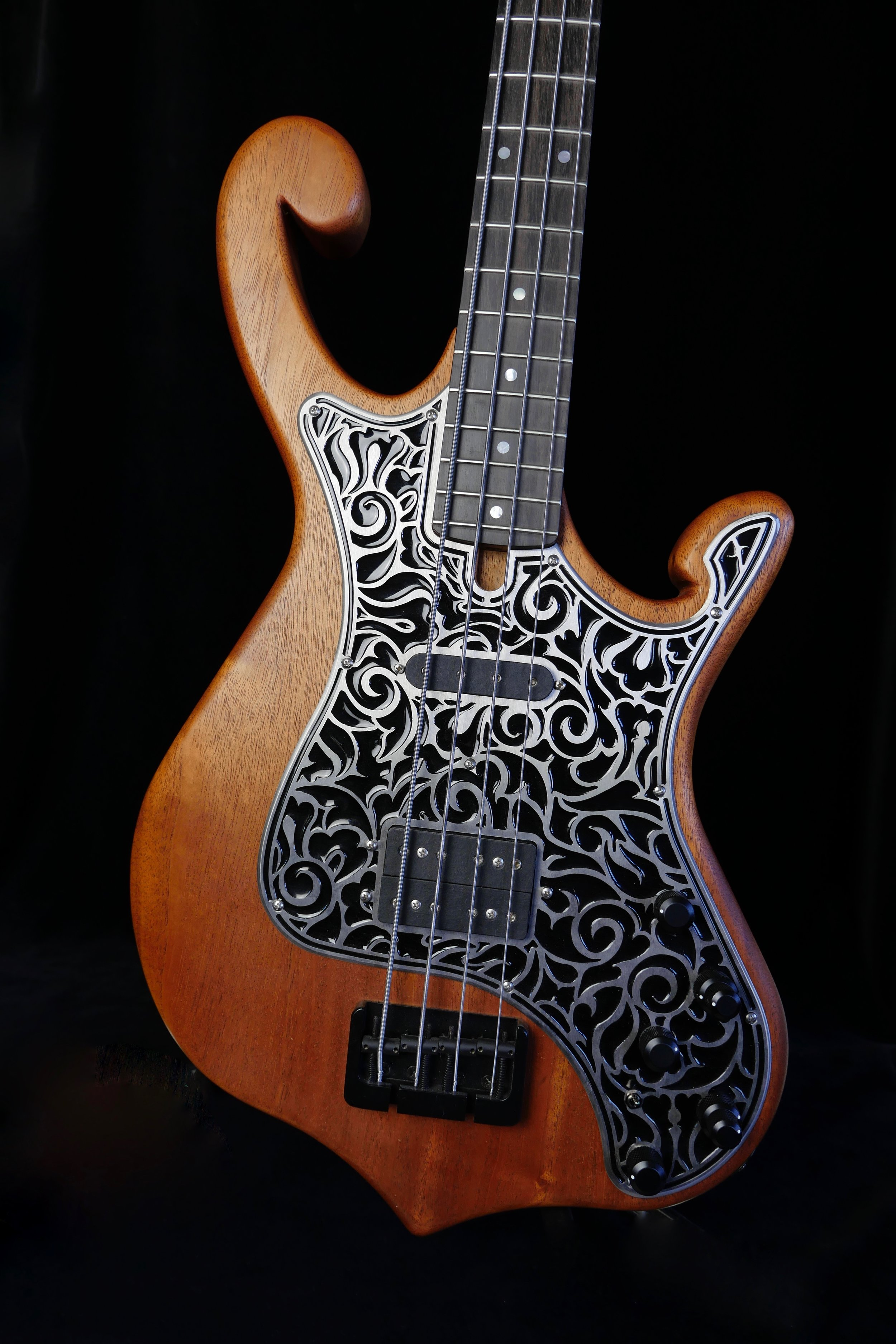 Your individual Pickguard - Laser engraved, hand painted, made of plastic, wood or even leather.