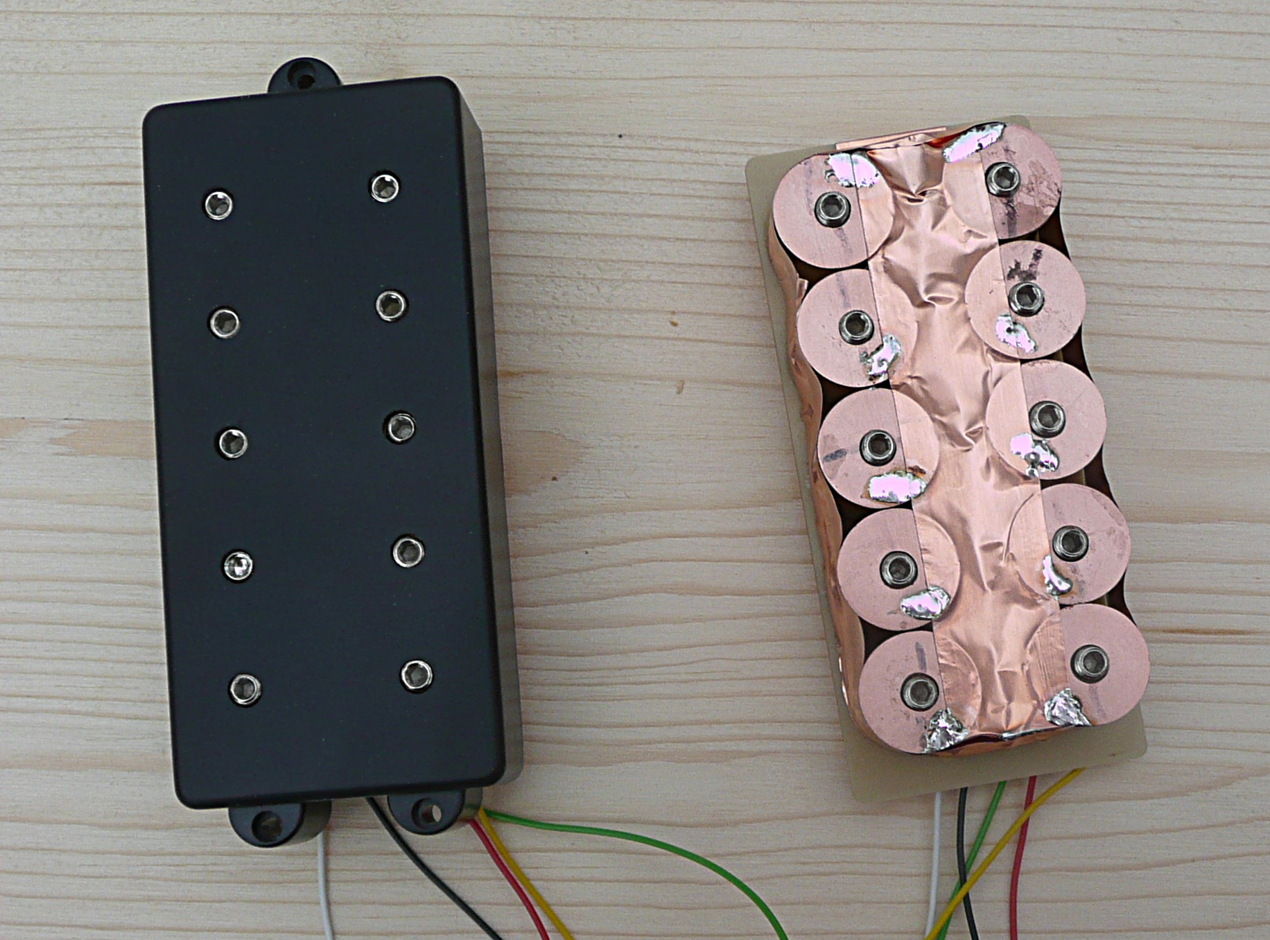 Multicoil - Here you See the W-Bucker as a multi-coil in an MM housing. So it fits into a MusicMan bass as well.