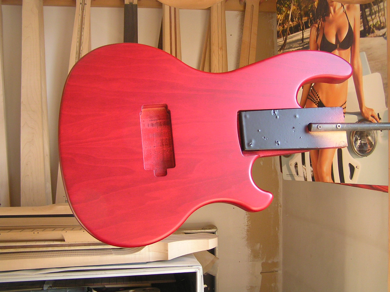 Matt. - See here a fine wine red matt finish.