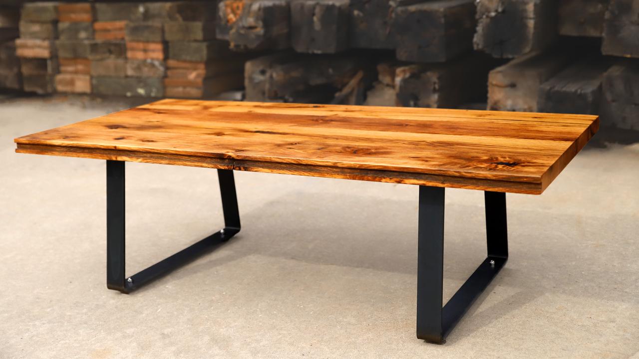 Diy Coffee Table W Reclaimed Oak Flooring Jonny Builds