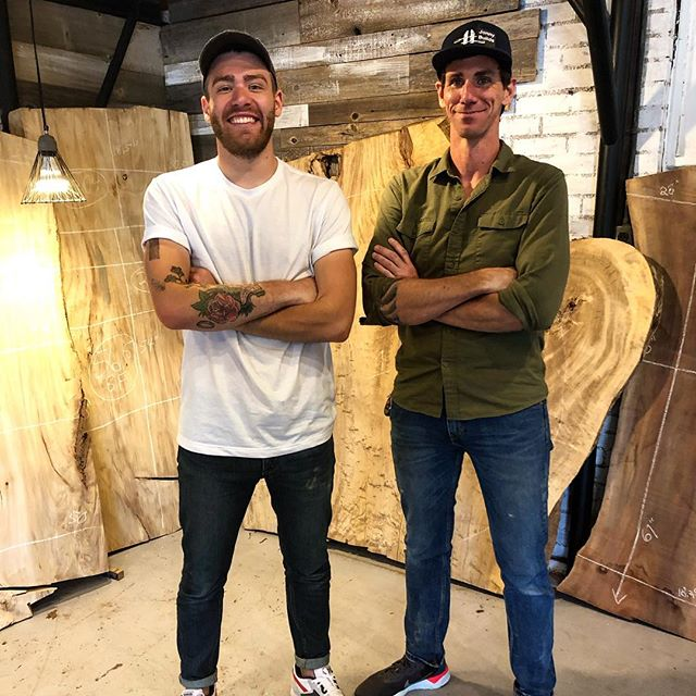 What happens when you get Mike @modernbuilds, David from @vintagereclaimedlumber, and myself together? Ideas! Lots of great ideas. Exciting things coming!! Stay tuned 🙌🙌 #makers #makersgonnamake #makersmovement