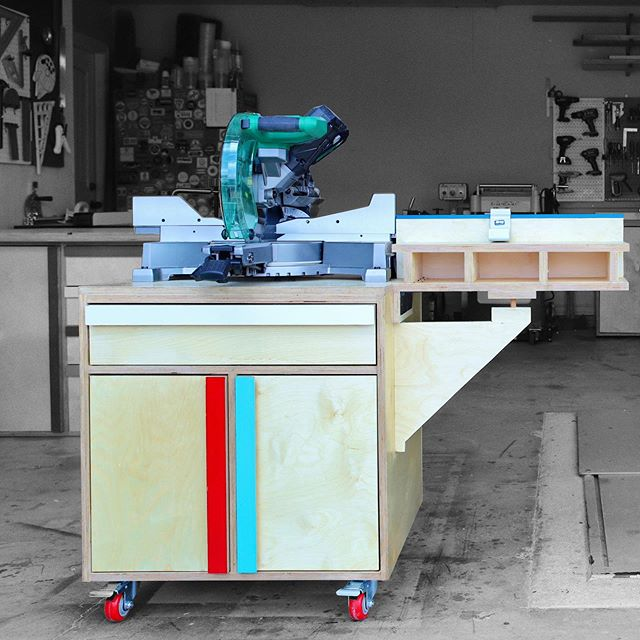 New VIDEO! Click @jonnybuilds for link.  Full build article on @build_something #sponsored by @kregjig I built this mobile/modular miter saw station station with lots of storage. The miter saw cabinet rolls away from the stationary cabinet and works with my workbench to cut longer pieces. Check out the full build vid on Jonny Builds. #mitersawstation