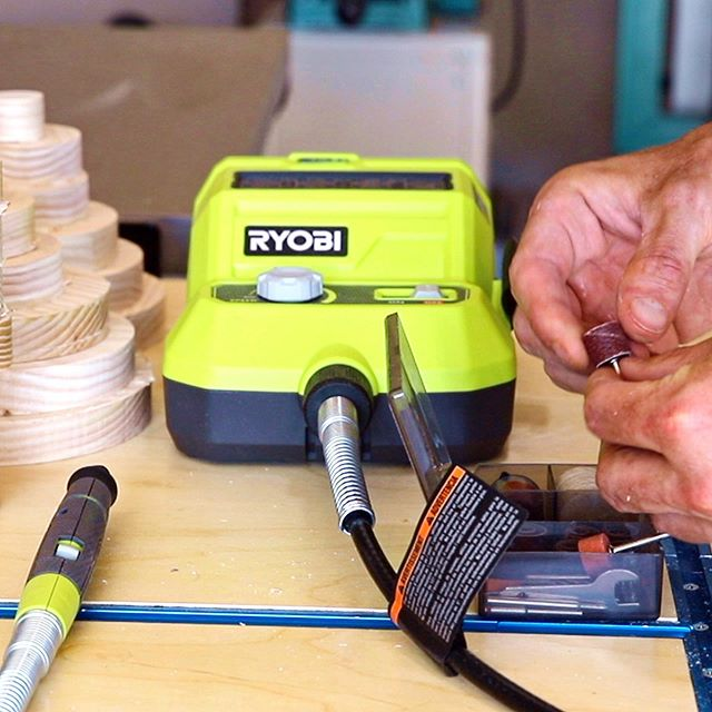 #sponsored When building the crop circle table I got to try out some really awesome new tools from Ryobi including this 18V Rotary tool. This was the perfect tool to sand the tabs left from the cnc. I did a whole build article & tool review on my website Jonny-Builds.com. Link in bio! #thdprospective #homedepotpartner
