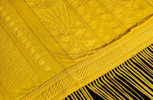 A piece of golden orb spider silk from silkepc.com
