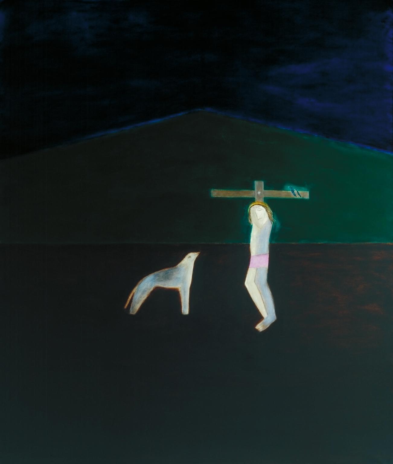 Craigie Aitchison Crucifixion 9 1987