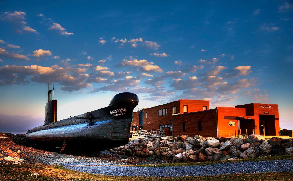 Le   sous-marin Onondaga   Photo : Site historique maritime de la Pointe-au-Père (Martin Hugues)