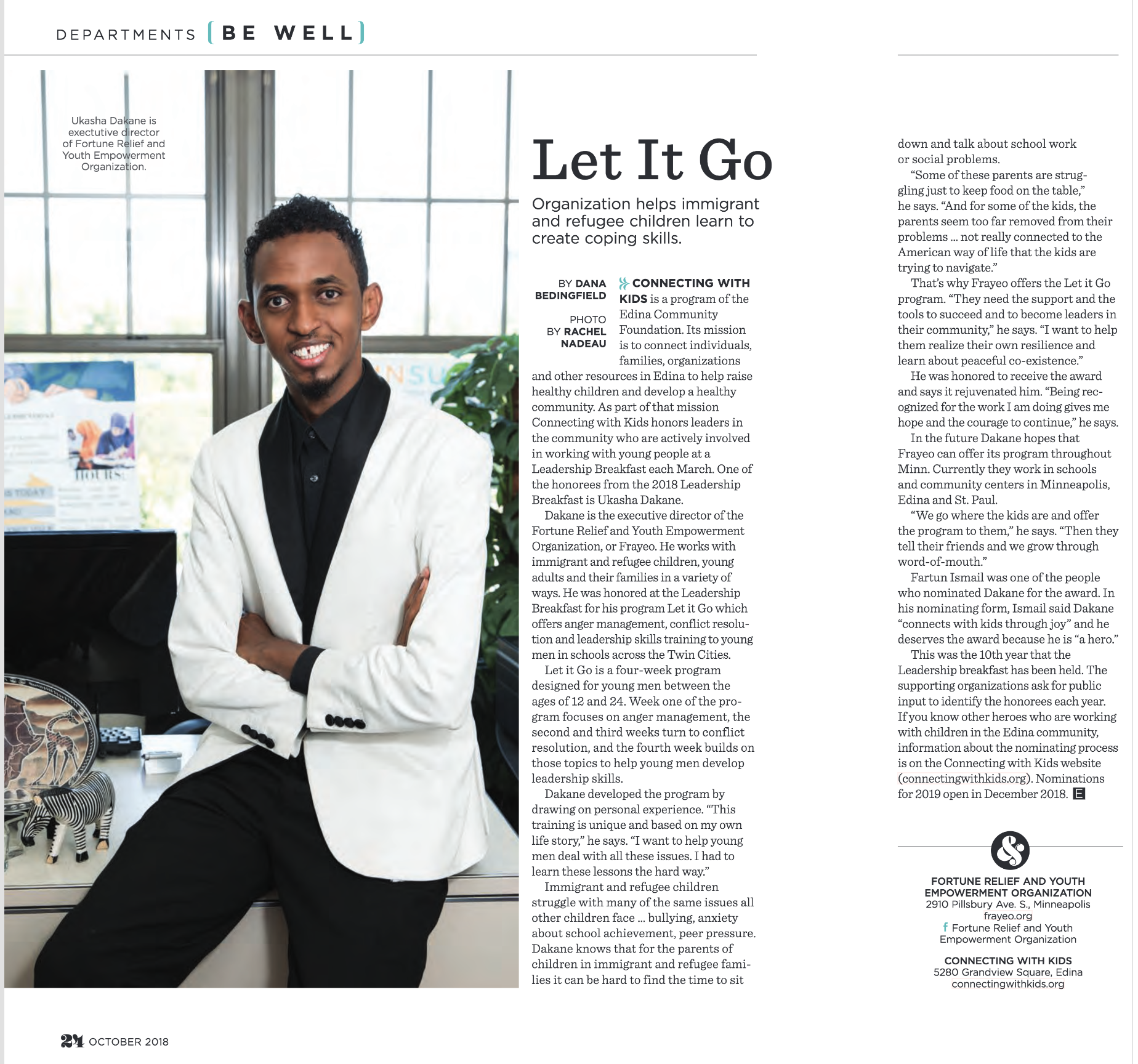 Edina Magazine , October 2018, p. 24-25