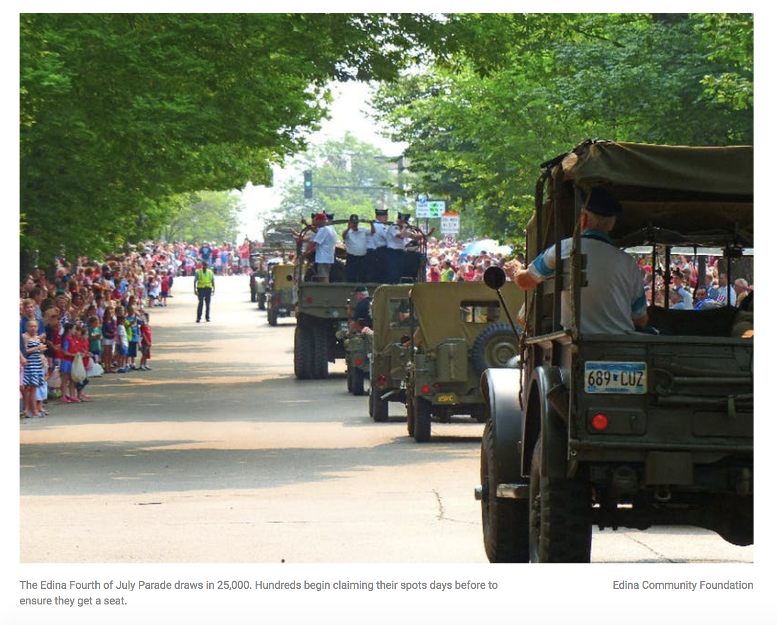 The Edina 4th of July is so Popular, Reservations are Required.   City Pages , July 3, 2018