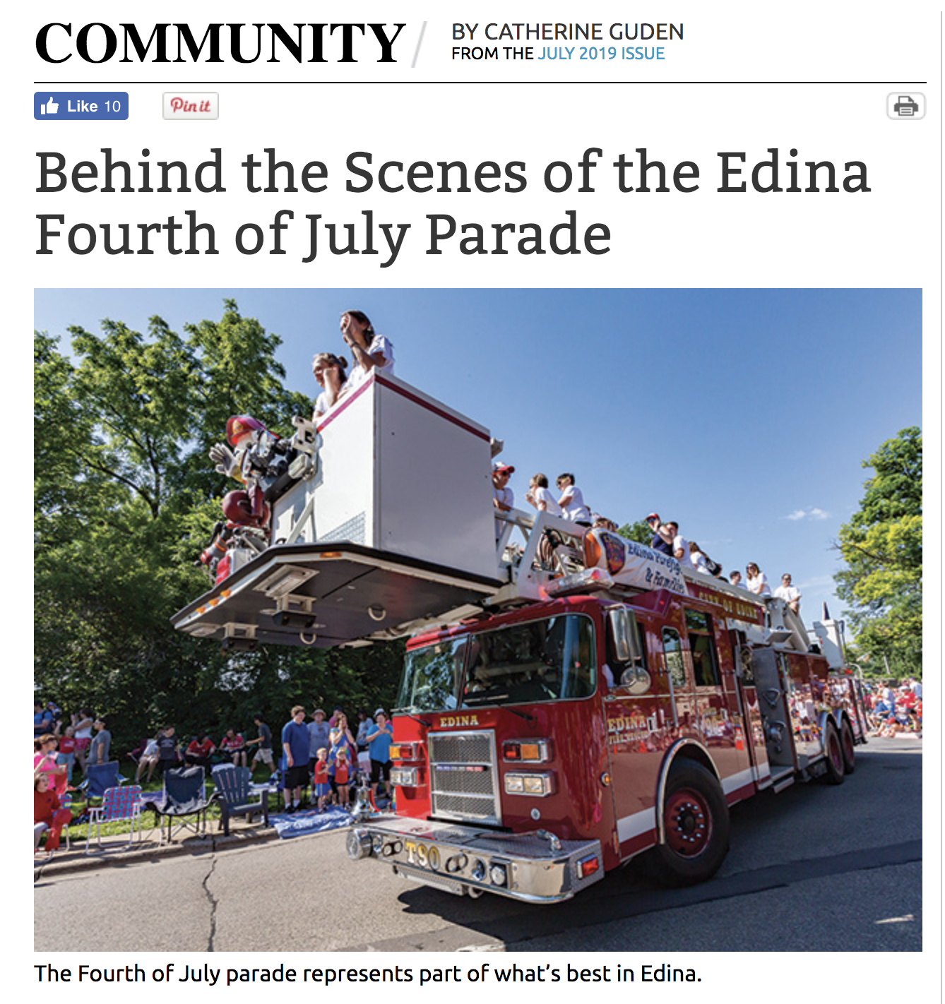 Edina Magazine , July 2019