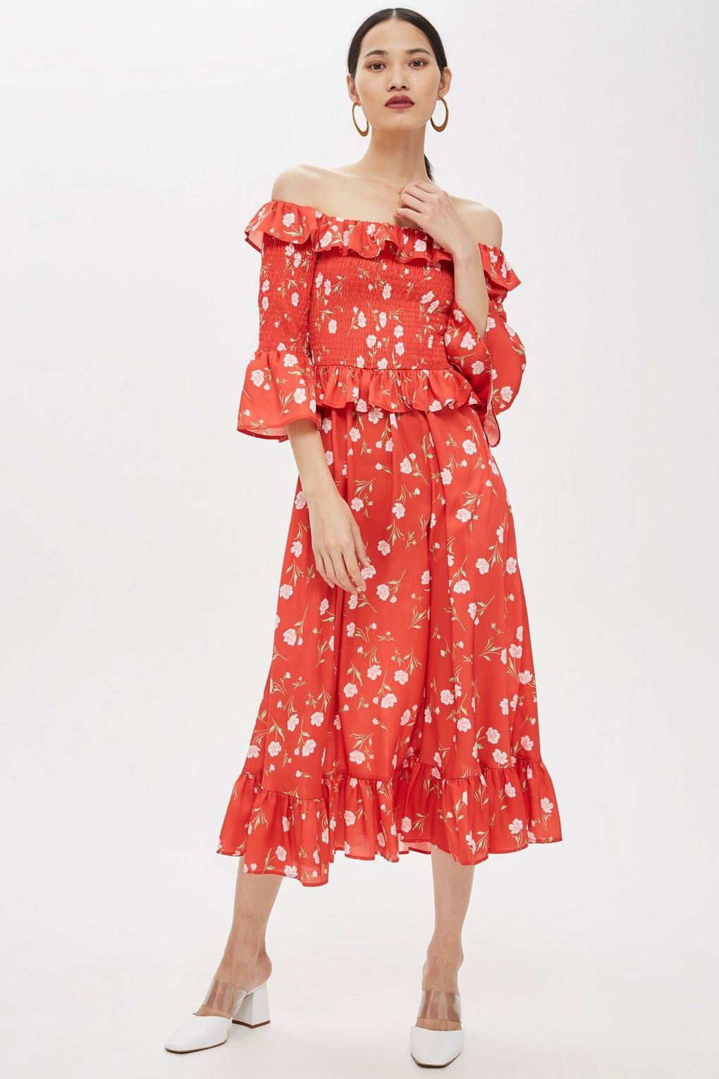 The printed midi dress. - And Other Stories win the award for this category, but Topshop are also in the running with a few more affordable options. One of these in your wardrobe will carry you through winter with a pair of black tights and western boots too.
