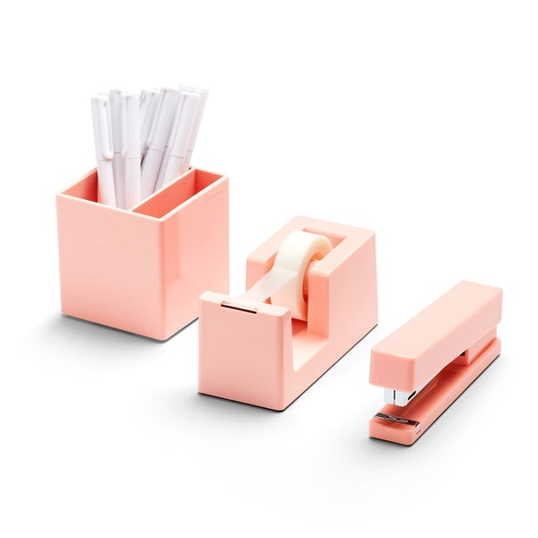 Sleek stapler & organisation set - In order to be a productive girl-boss, you have to have the organisational skills to keep all of your ducks in a row. Although this sleek organisation set may be minimalist, it's the perfect pop of colour for what could be an otherwise drab desk
