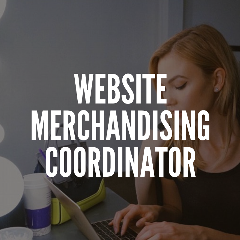 Fashion Website Merchandising Coordinator