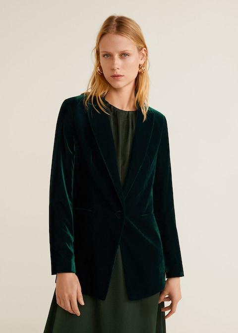 Velvet blazer -