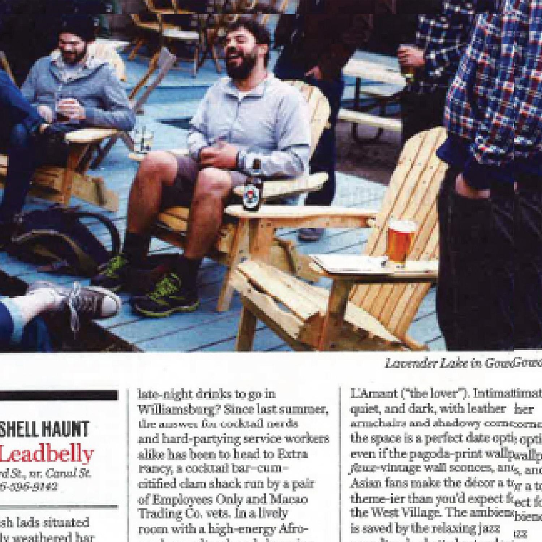 The Leadbelly, New York Magazine - May 2013