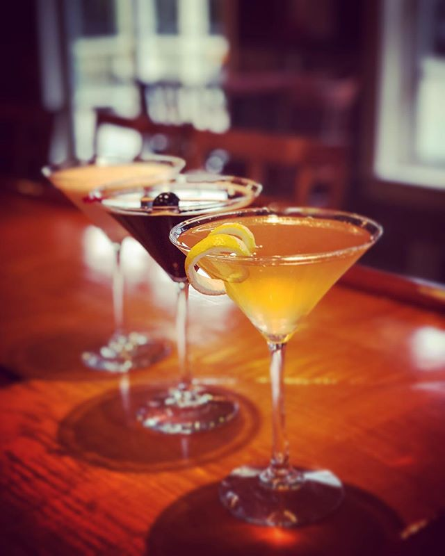 Featuring our new handcrafted Blood Orange Beauty, Chocolate Covered Cherry and White Chocolate Truffle martinis!