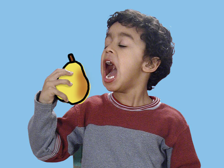 Boy Eating a Pear by Jane Aaron