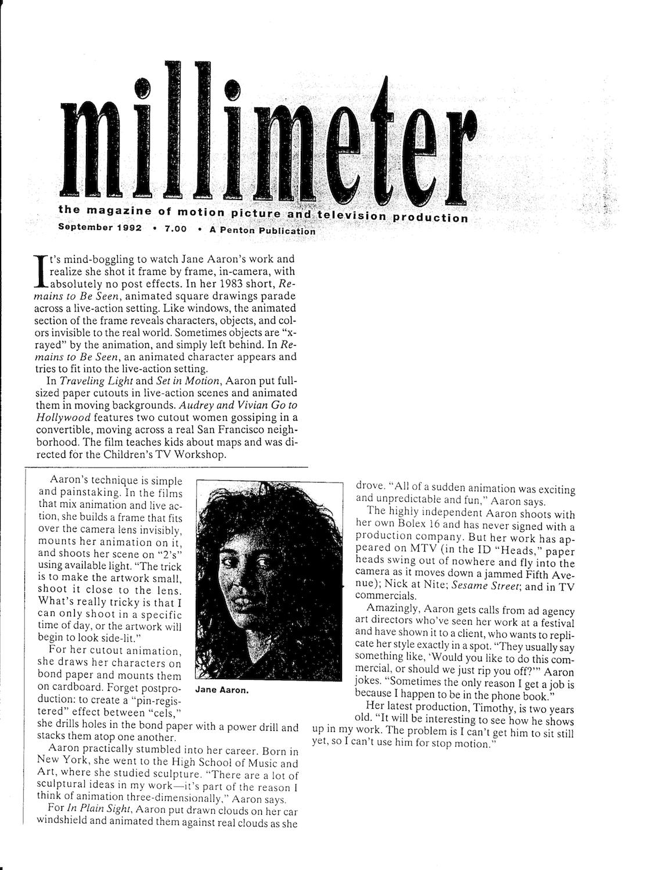 Millimeter, Sept 1992