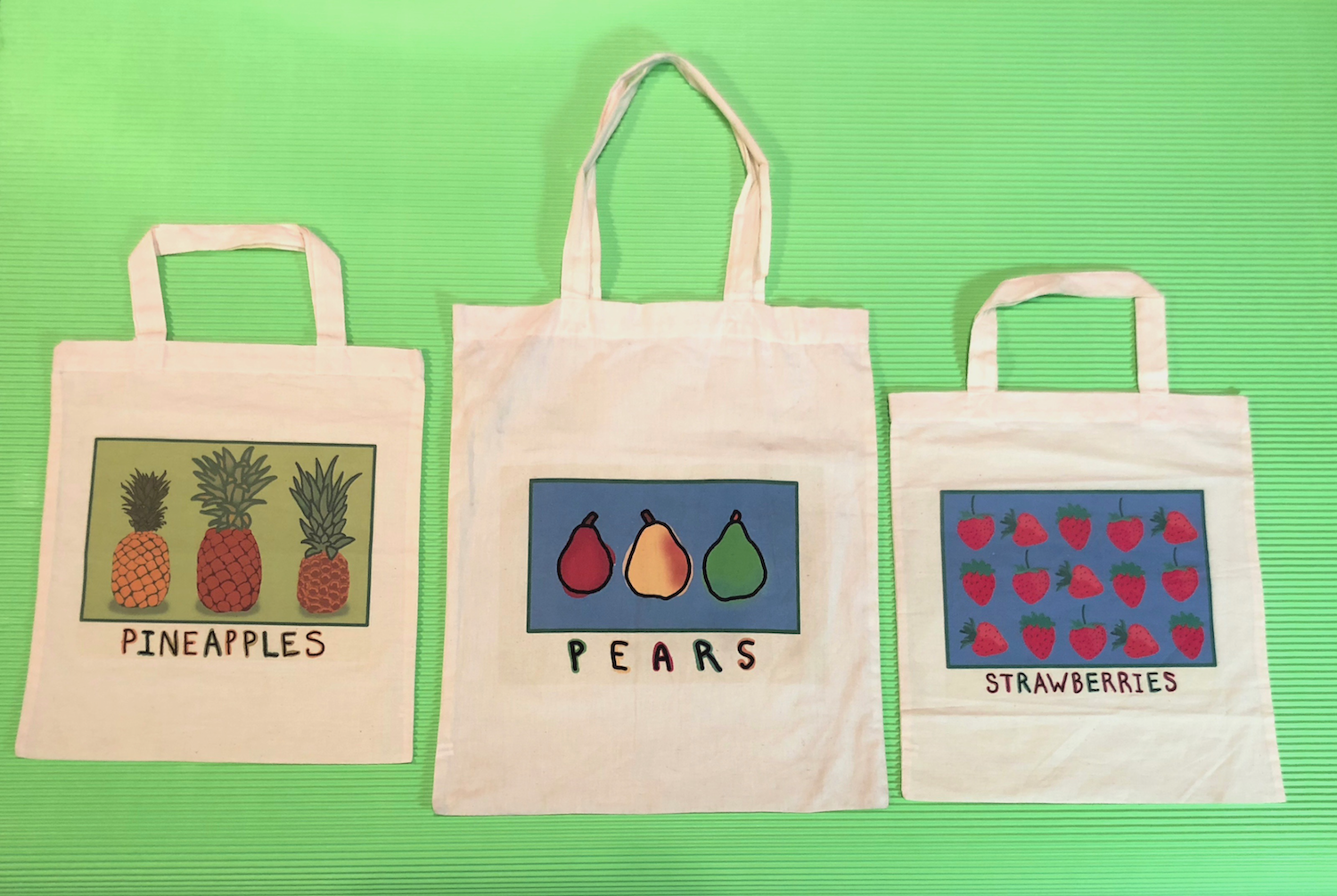 Fruit Tote Bags by Jane Aaron