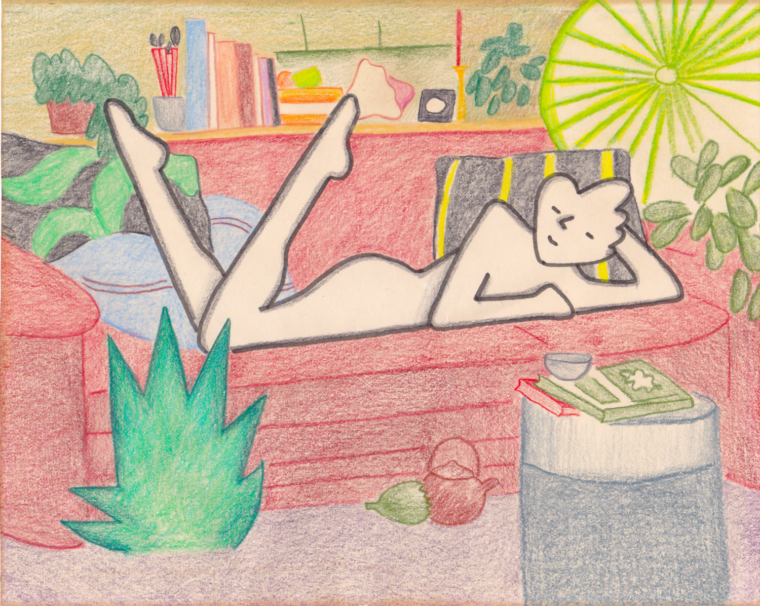 Annie Mae on the Couch by Jane Aaron