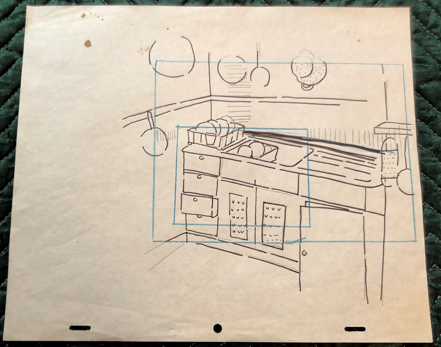 "Jane's preliminary planning for ""Interior Designs"" (1980)"