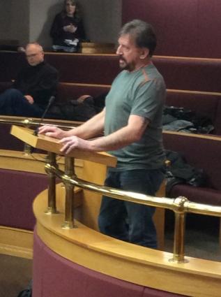 Don Dutchak addressing council