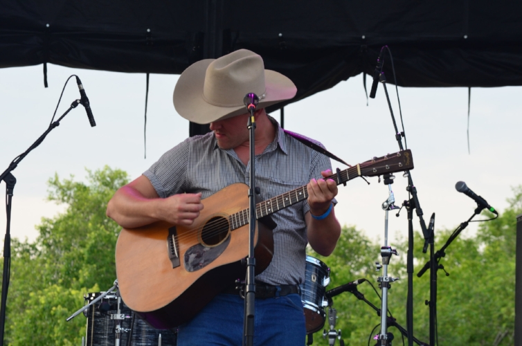 """The forever-charming balladeer Zachary Lucky. One of the leaders of the pack of """"SaskCore"""" music. Known for tracks like """"Saskatchewan"""" and """"Ramblin' Man's Lament"""" pulled out all the stops in his performances. Even bringing the wonder Belle Plaine on stage for some accompaniment."""