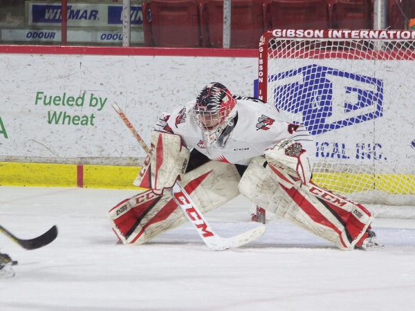 Veteran goalie  Brody Willms  was set to have one last kick at the can with this season's Warriors, but was sidelined due to an incredibly unfortunate season ending injury. So he won't be playing anywhere this year. In his place you now see a platoon between Adam Evanoff and Brodan Salmond.