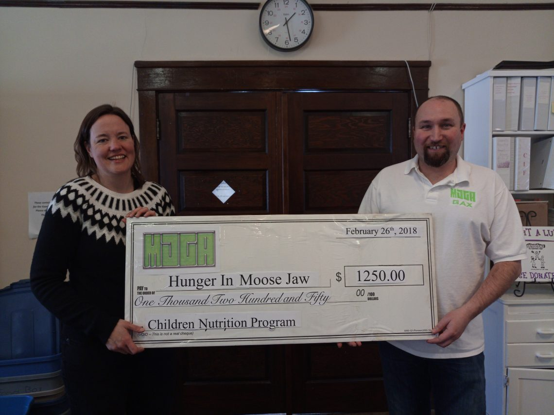 Last year $1250 was donated to Hunger in Moose Jaw - MJGA photo