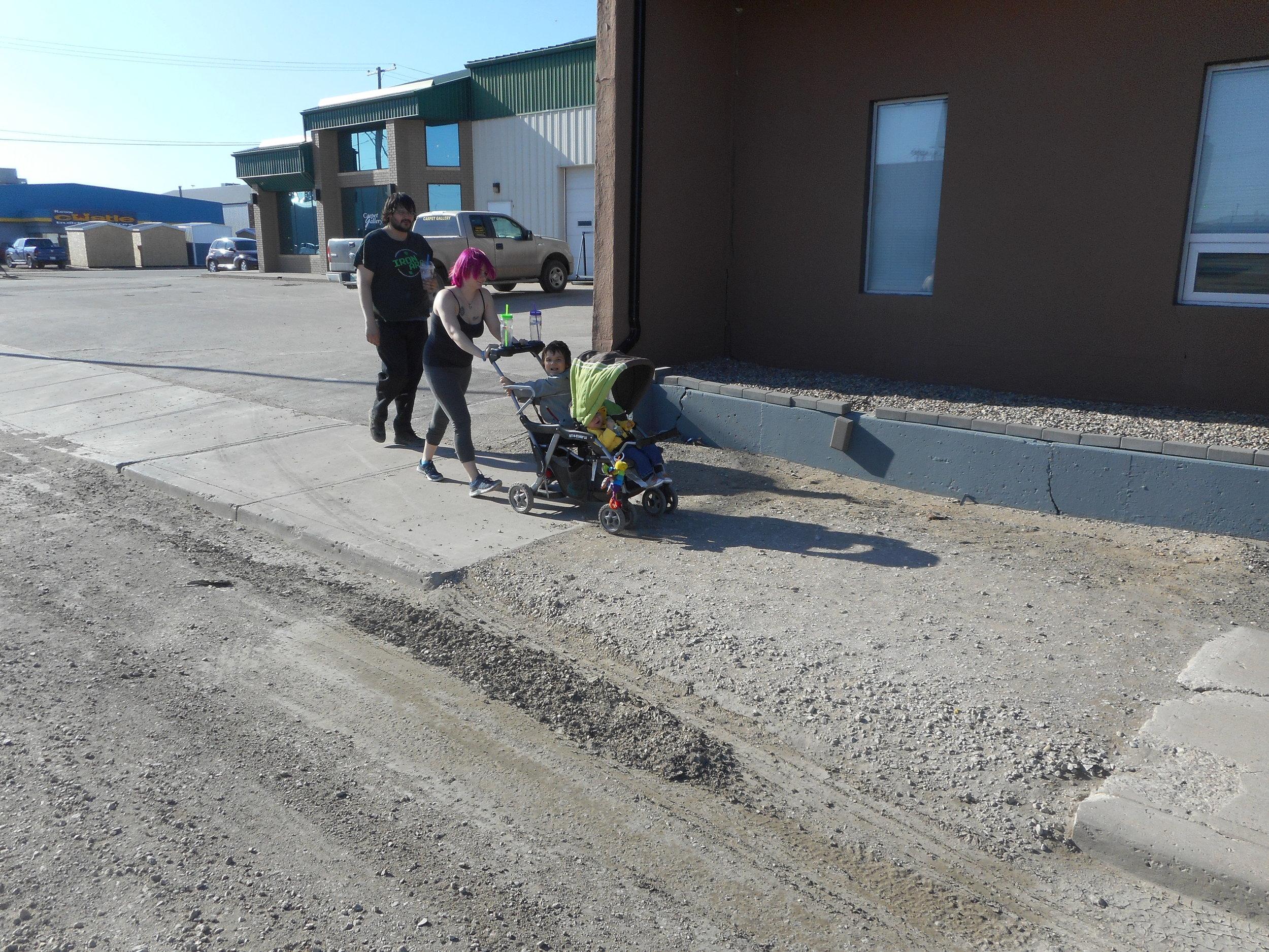 Temporary Sidewalk Repair on High Street West May 2018 - File Photo
