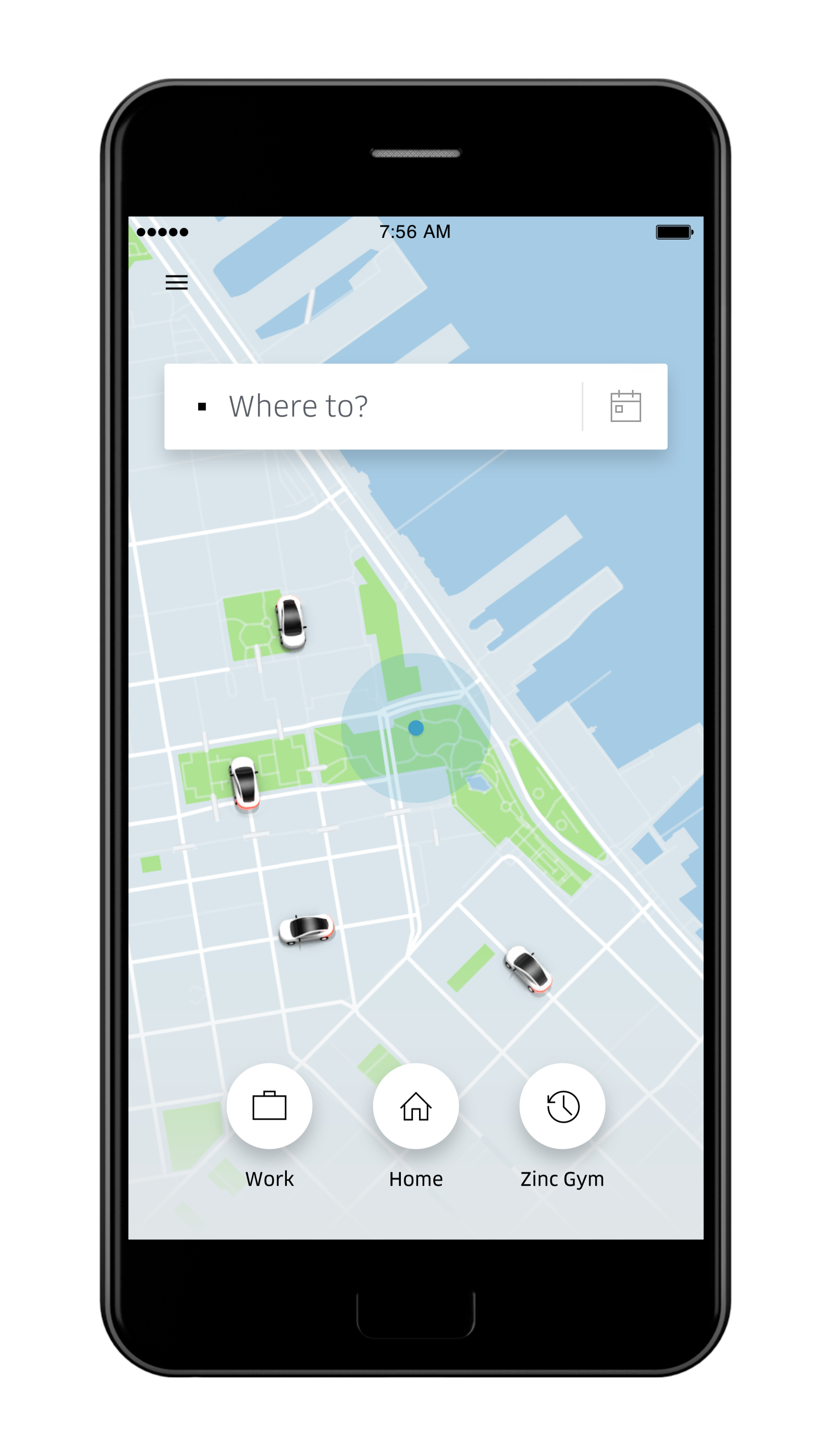 A look at Uber's App - Photo Compliments Uber Canada