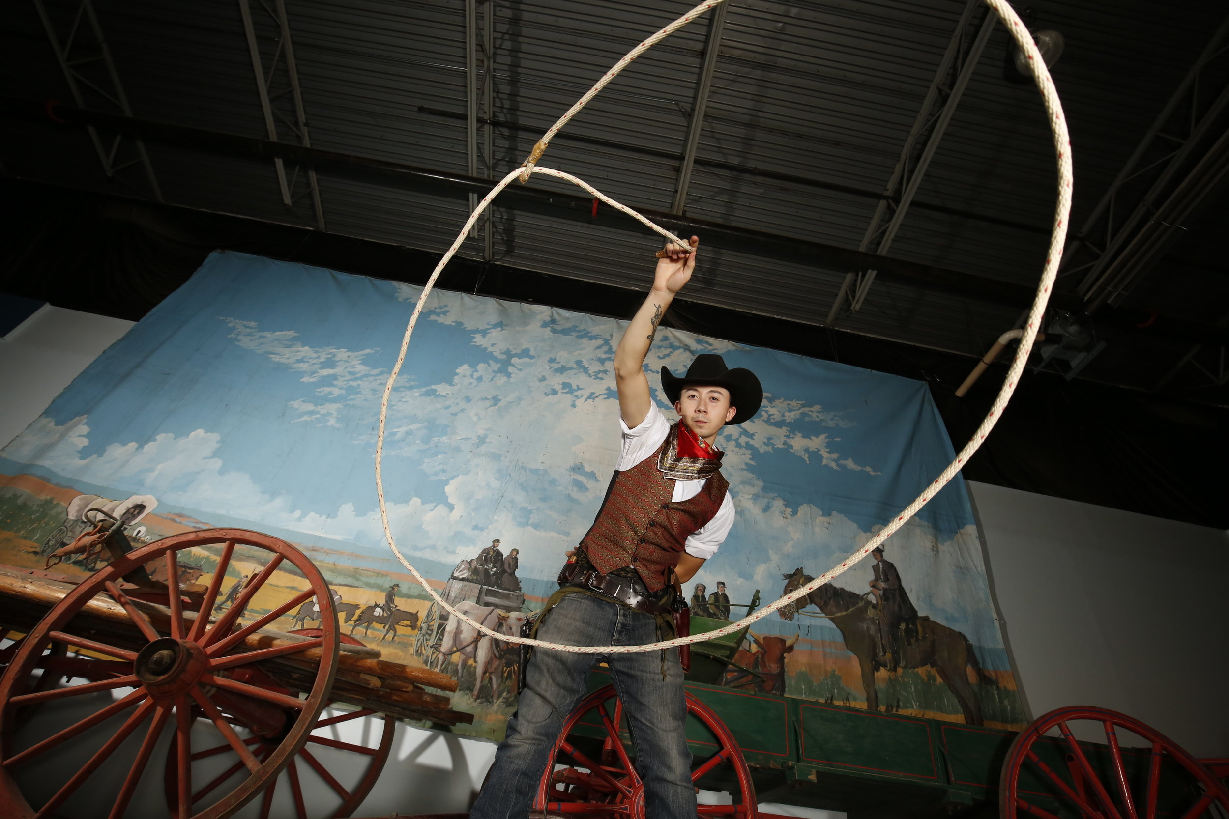 Adam Clarkson will be demonstrating his roping skills at Heritage Day - photo supplied by WDM