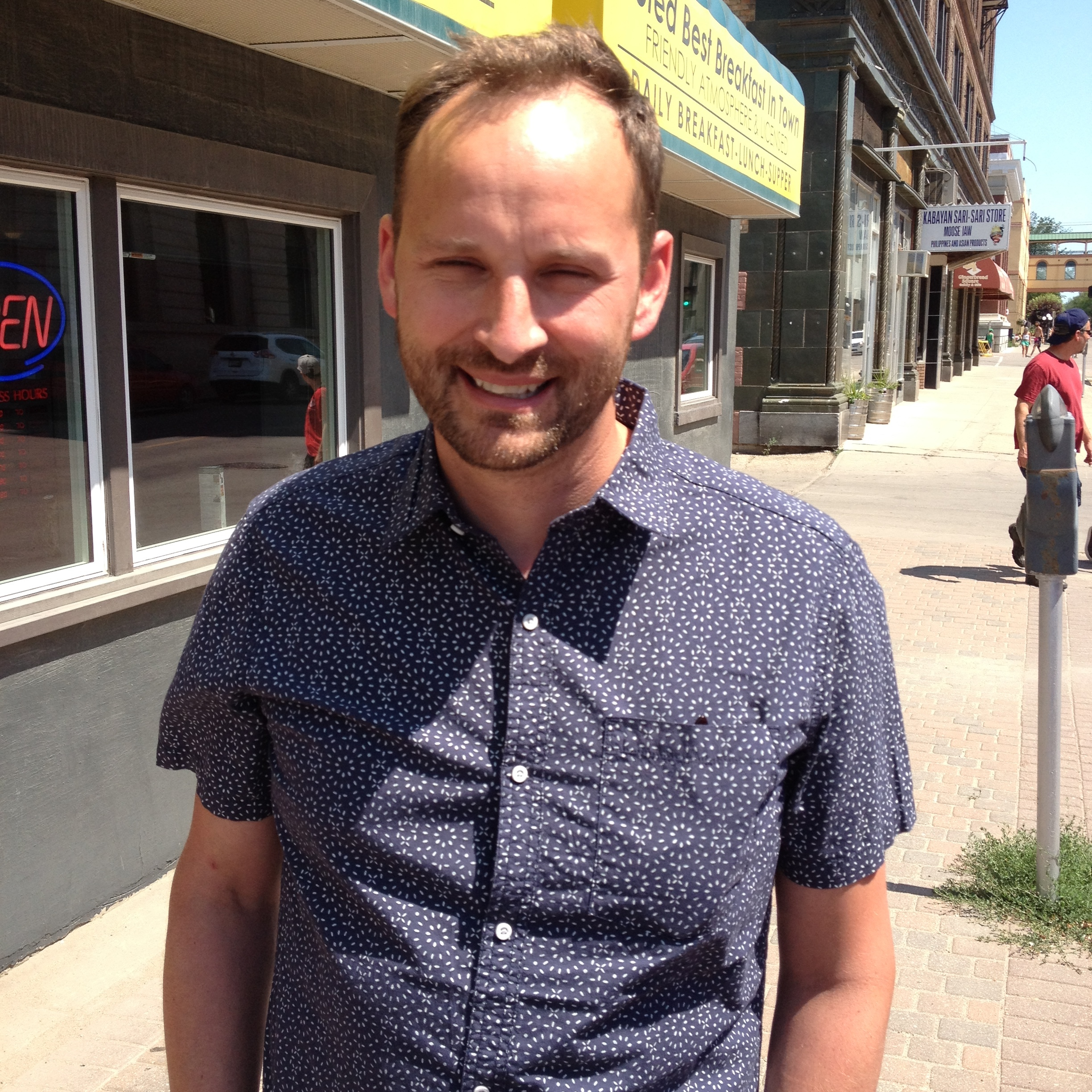 NDP Leader Ryan Meili in Moose Jaw last July - MJ Independent File Photo