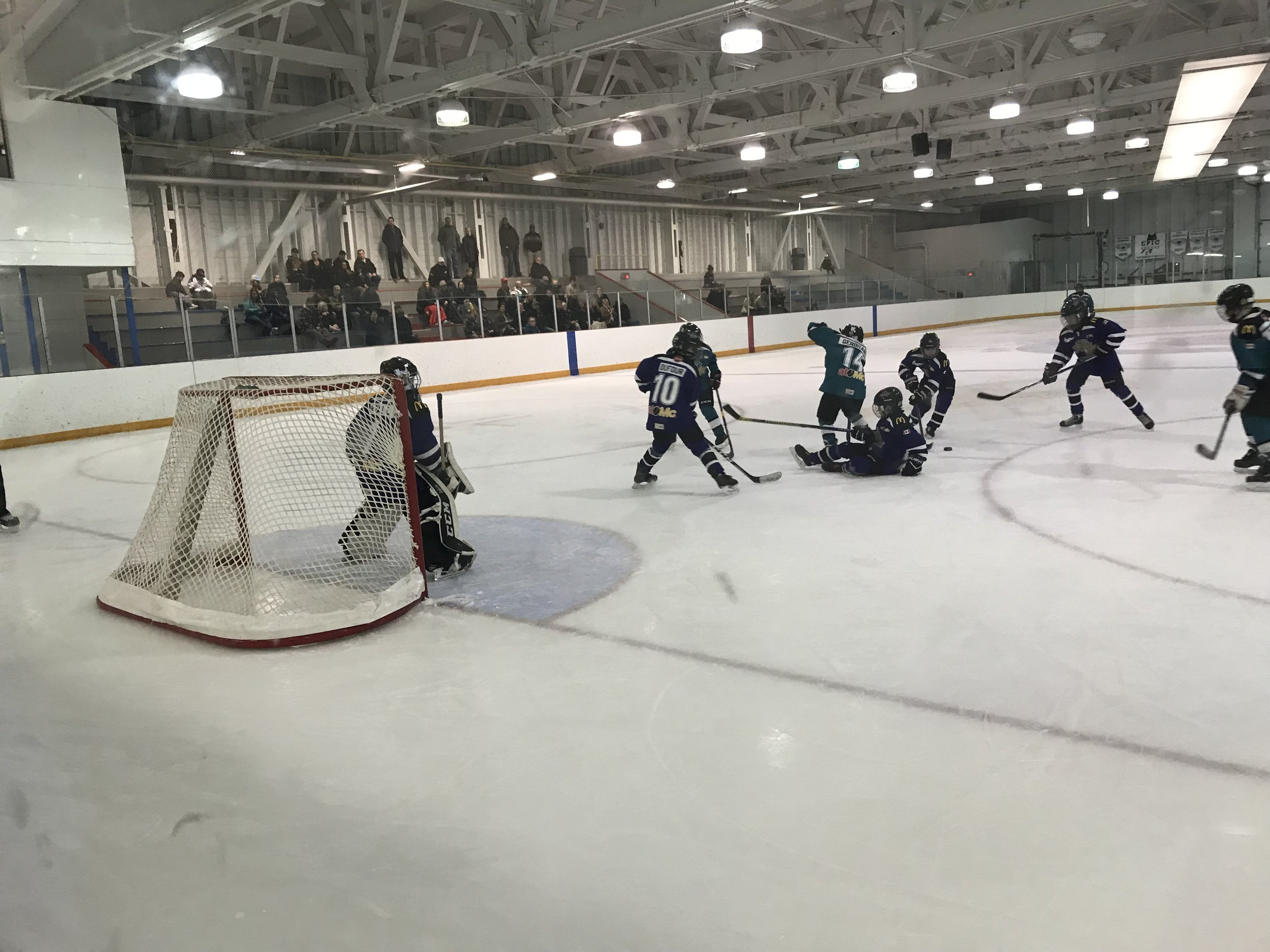 Action During the Atom B City Championship on Monday Evening - Cara Ryall Photo