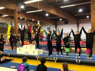JO 3 Hailey Wagner 1st AA (second from the left)