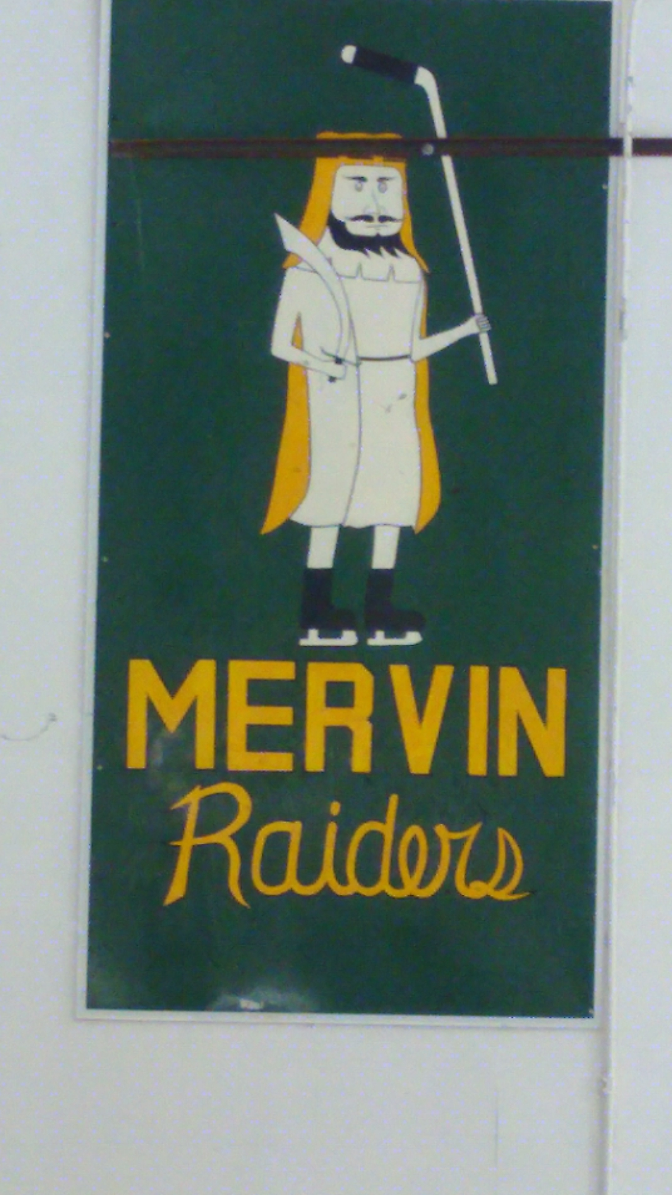 Mervin Raiders Banner At The Turtleford Arena