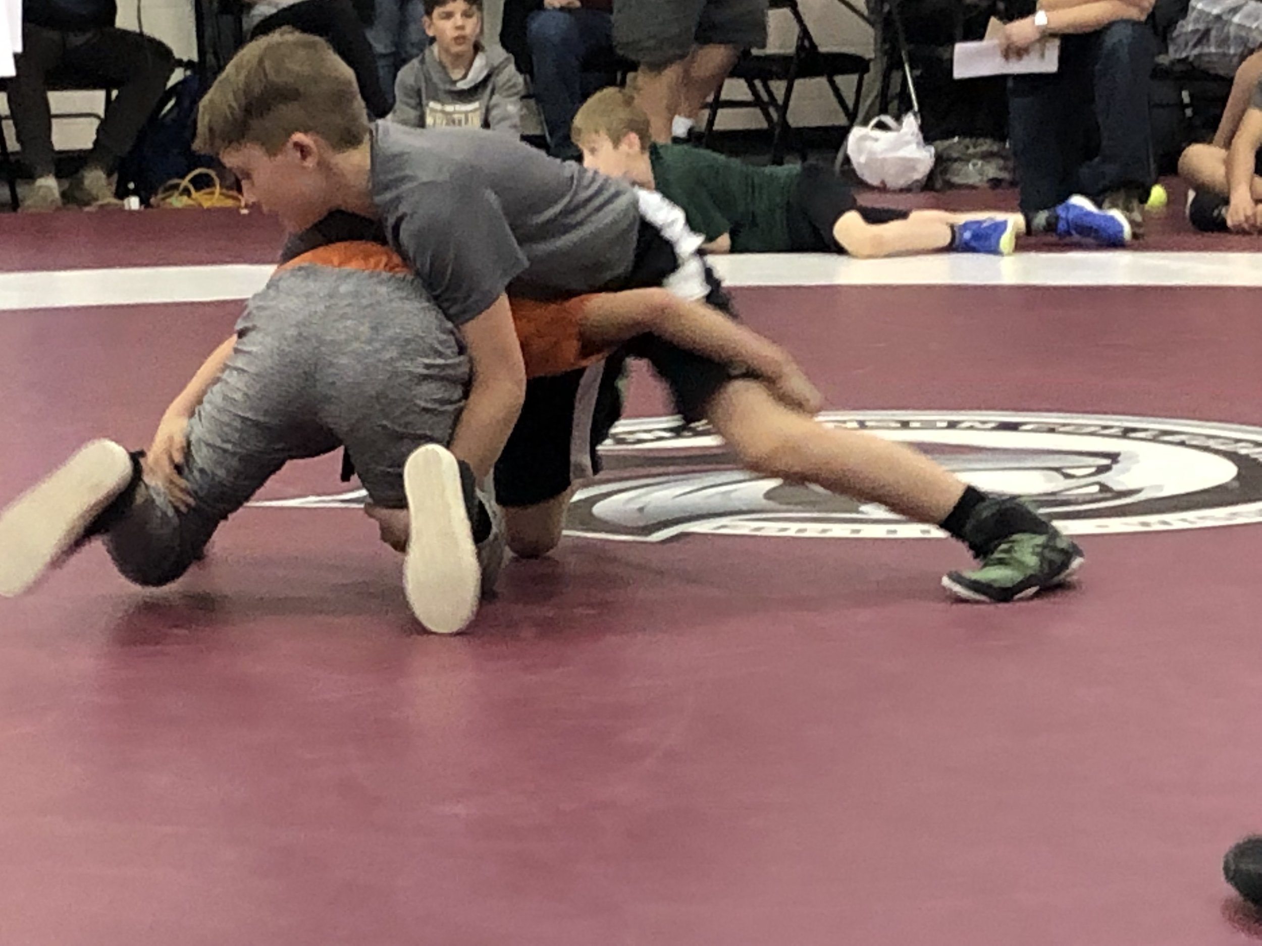 Carson Mack (right) During a Match
