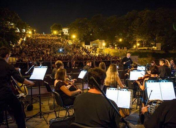 Outdoor music played on the Potemkin Steps - Odessa, Ukraine