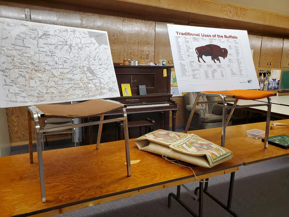 Some of the displays at Friday evening's meeting