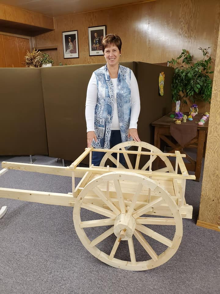 A model of a cart was on display