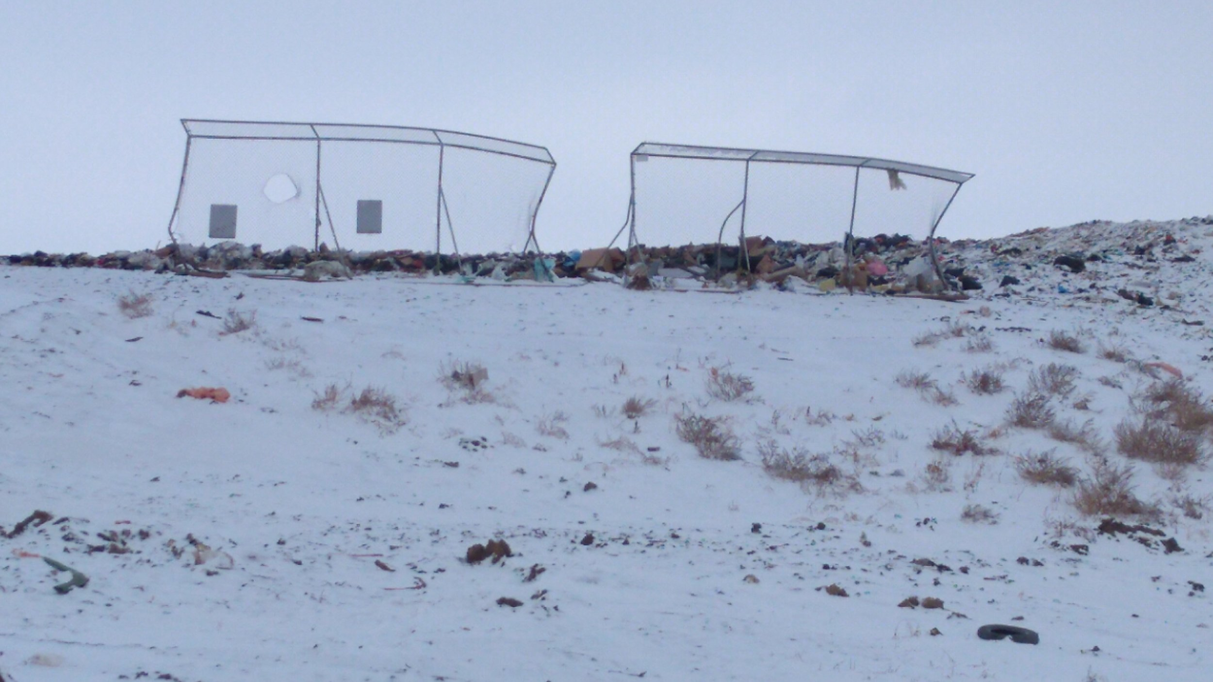 Portable Fencing at the Landfill - MJ Independent File Photo