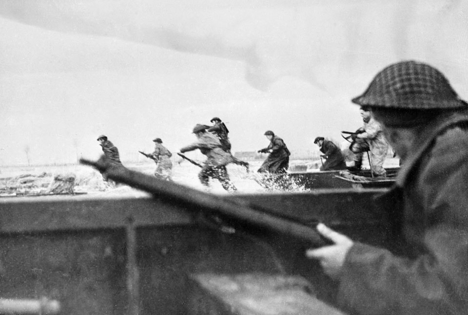 Juno Beach on D Day - Canadian War Museum Photo