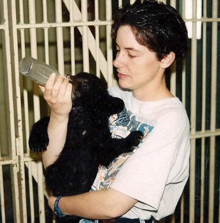 Years ago, orphaned wildlife were brought to the Saskatoon Zoo for rehab, prior to the introduction of the Wildlife Rehabilitation Society of Saskatchewan. Now we have specialized rehabbers that care for certain wildlife (photo via Kimberly Epp, circa 1992)