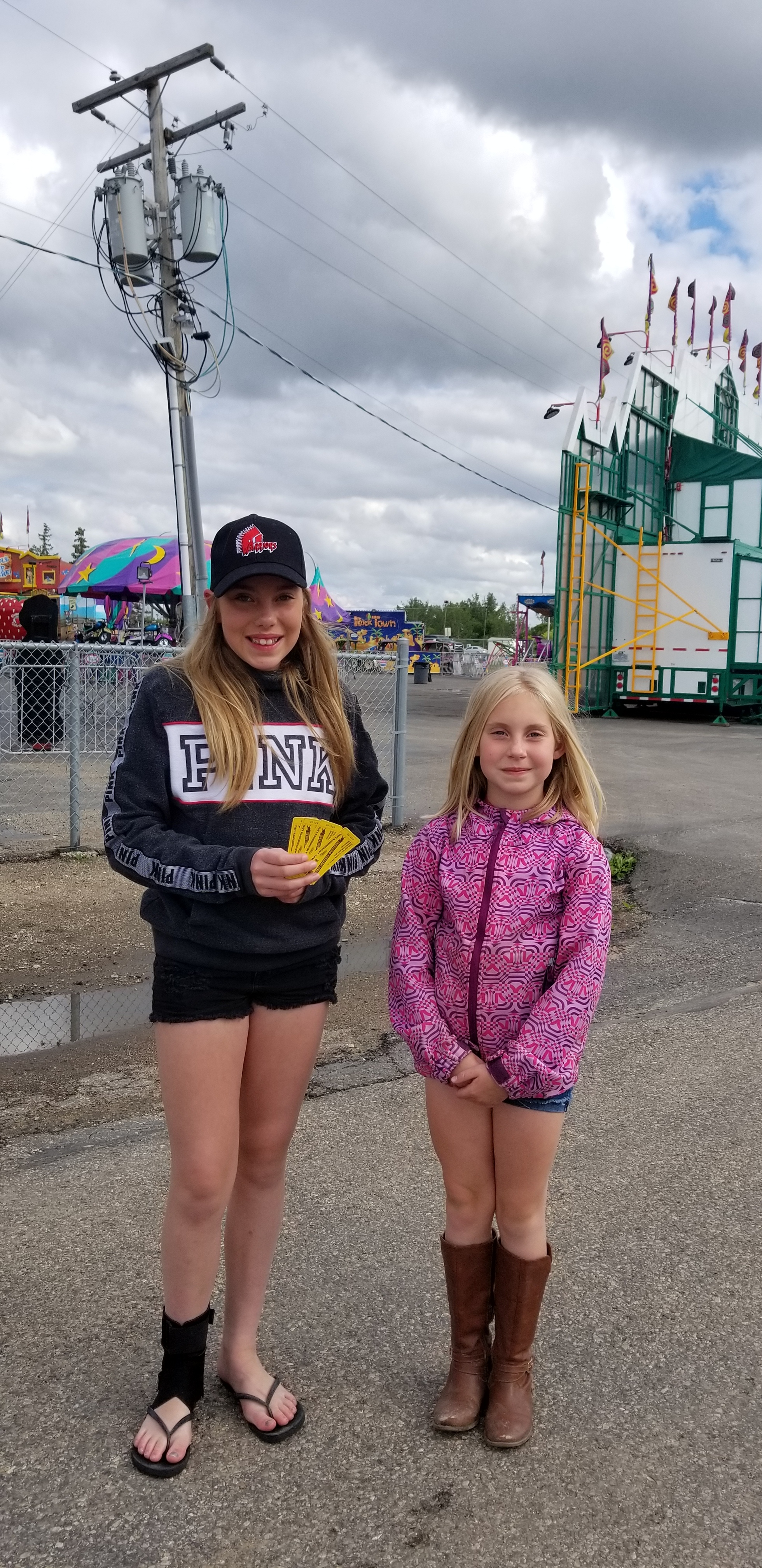It may have been cloudy but the winners were all happy about the free passes to the Moose Jaw Hometown Fair