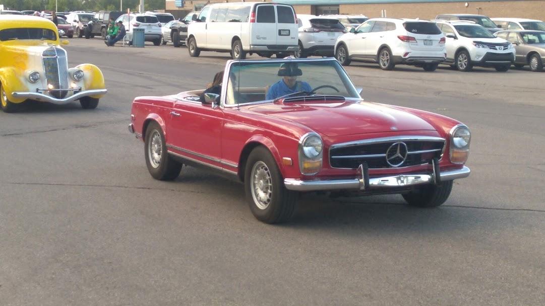 A classic Mercedes convertible