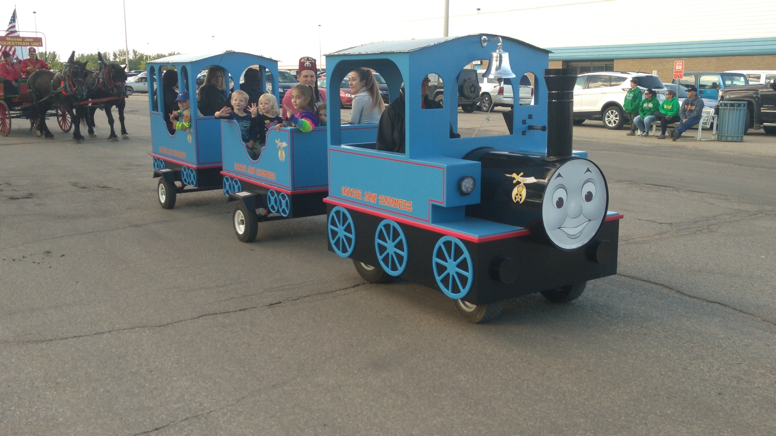 Thomas The Train was in the parade