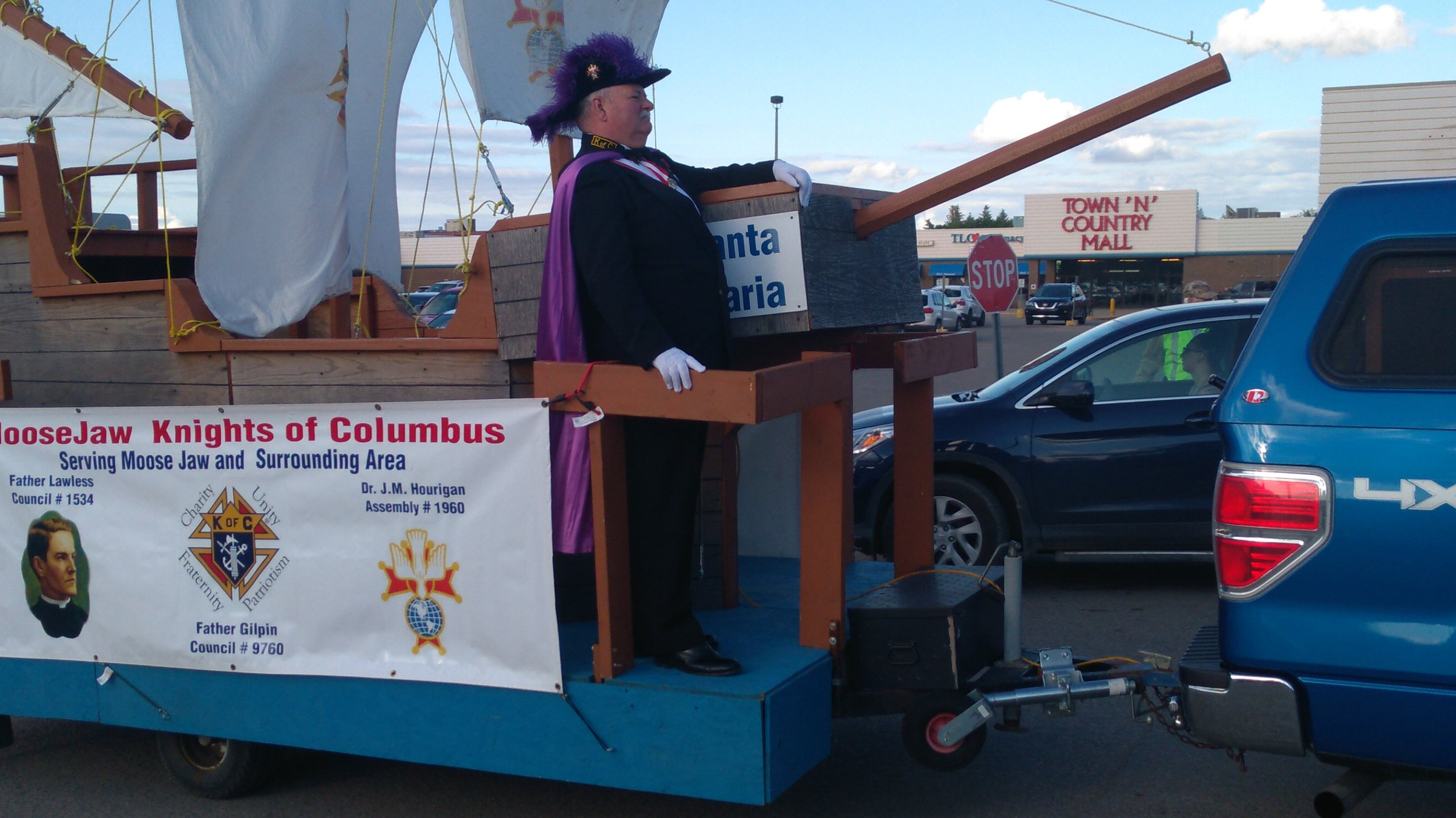 The Moose Jaw Chapter of the Knights Of Columbus Brought Out the Santa Maria