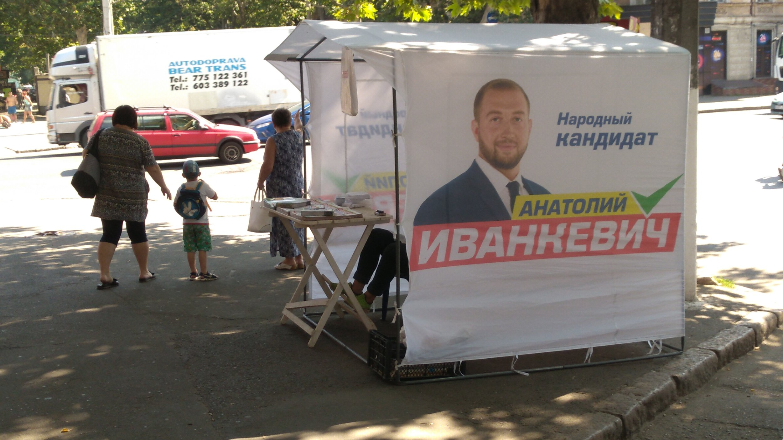 Booths have been set up by candidates at strategic corners to hand out campaign literature but there are very few takers