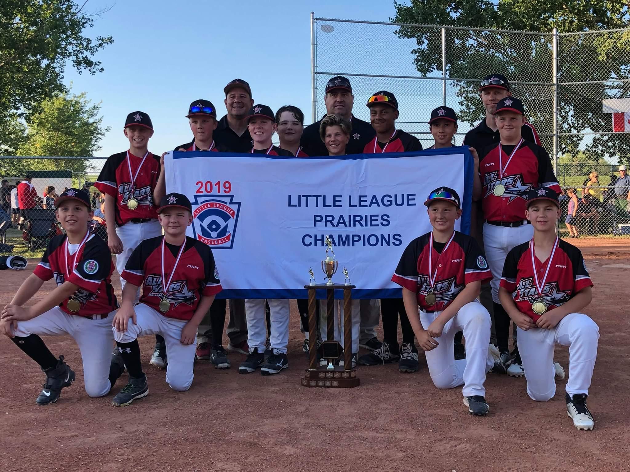 The team with the Prairie pennant