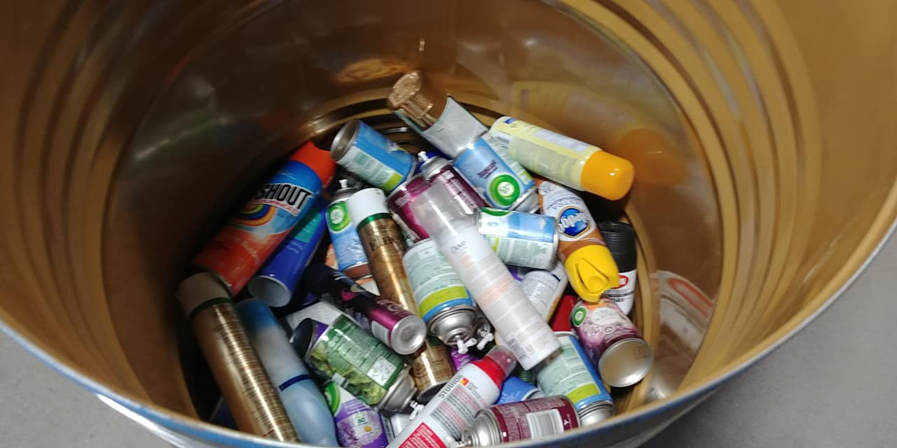 Aerosol spray cans collected in 2018 - supplied photo